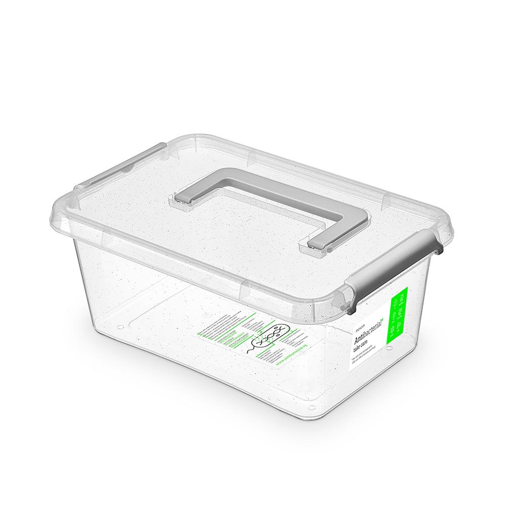 Pojemnik do przechowywania żywności / na żywność / artykuły higieniczne / z pokrywką / Mikrocząstki srebra Orplast Nanobox 4,5 l
