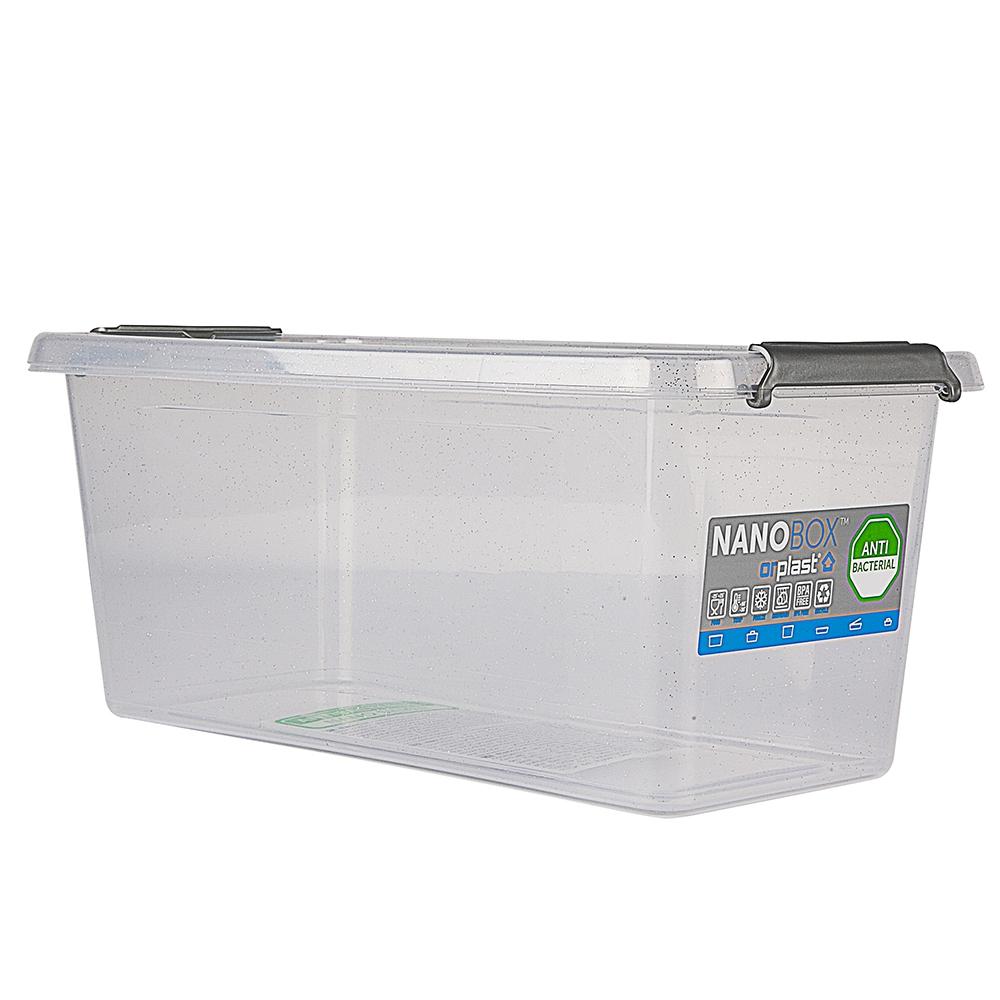 Pojemnik do przechowywania żywności / na żywność / artykuły higieniczne / z pokrywką / Mikrocząstki srebra Orplast Nanobox 8 l