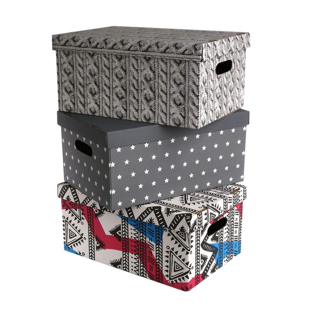 Pudełko kartonowe na zabawki / dokumenty MS Tworzywa dla domu 45x30x21 cm