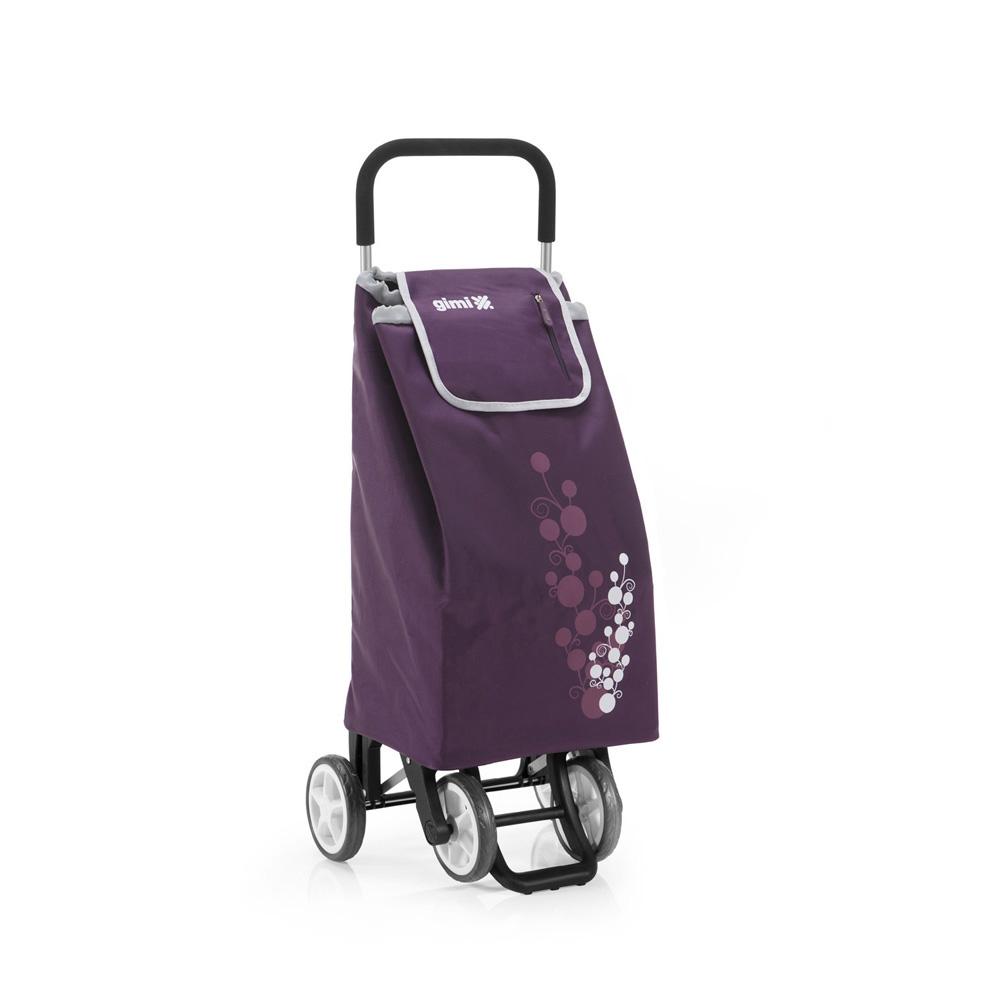 Wózek / Torba na zakupy 4 kółka GIMI Twin Fioletowy 30 kg / 56 l