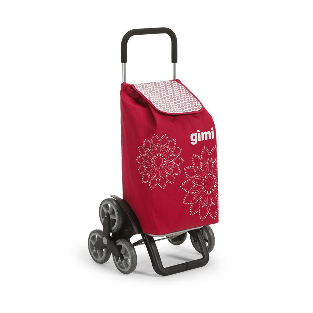 Wózek / Torba na zakupy 6 Kółek GIMI Tris Czerwony 30 kg / 56 l