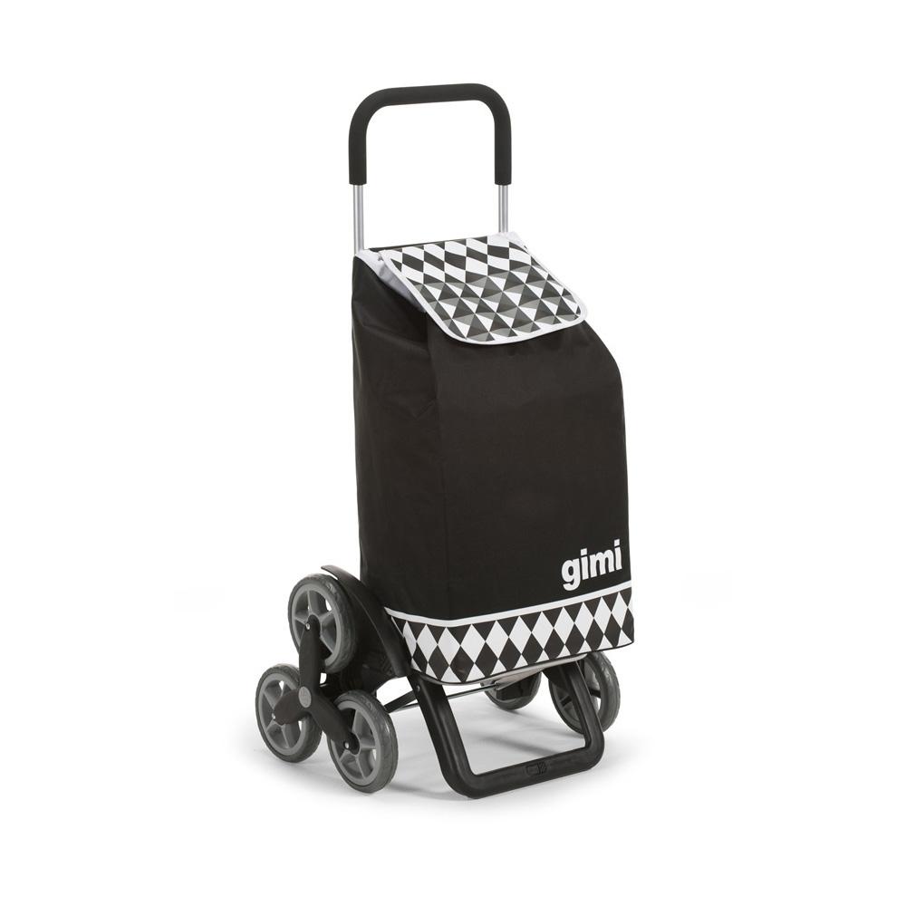 Wózek / Torba na zakupy 6 Kółek GIMI Tris Czarny 30 kg / 56 l