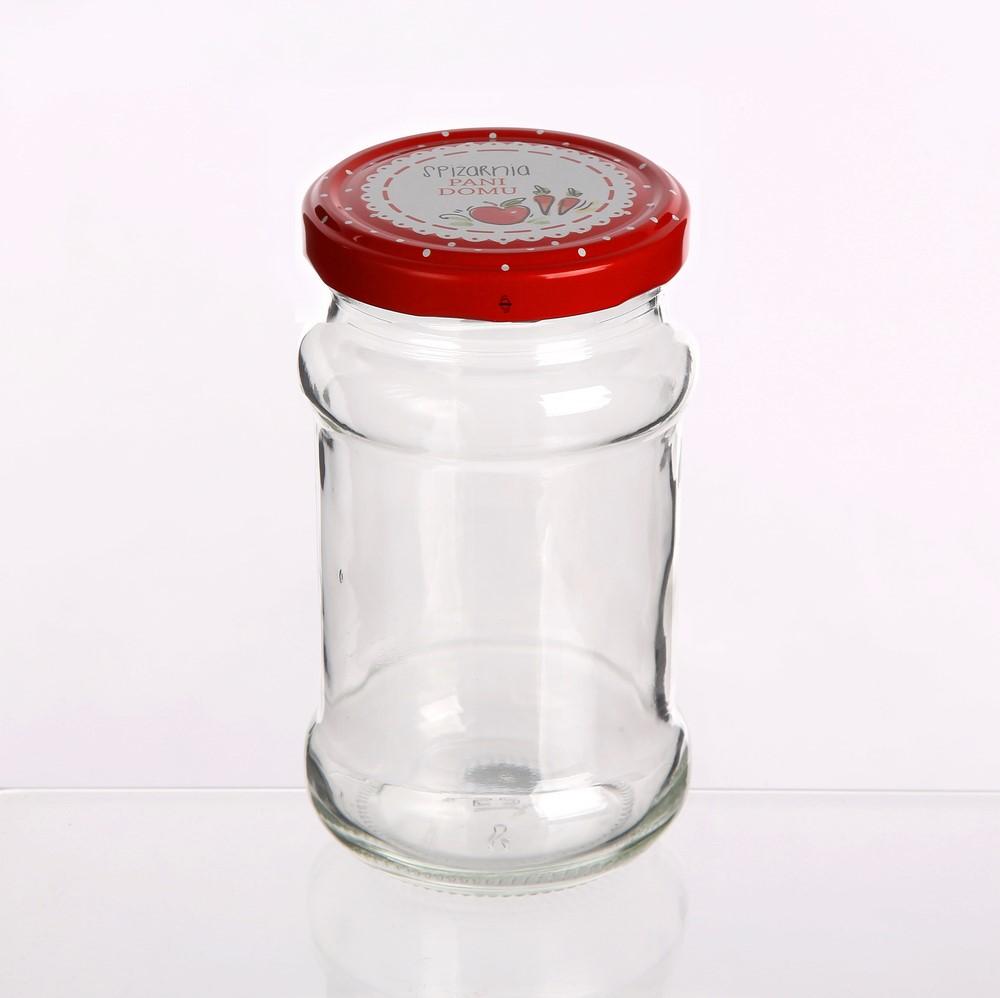 Słoik szklany na przetwory z zakrętką Altom Design Spiżarnia Pani Domu 315 ml (6 sztuk)