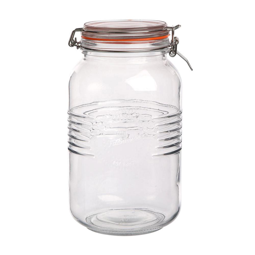 Słoik do przechowywania z klipsem szklany Mason Jar Altom Design Old Fashioned 3 l