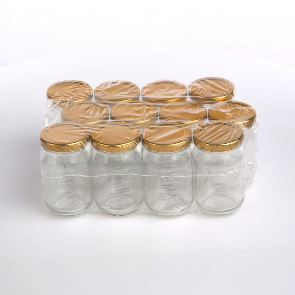 Słoiki z zakrętkami złotymi Sezon 180 ml (12 słoików)