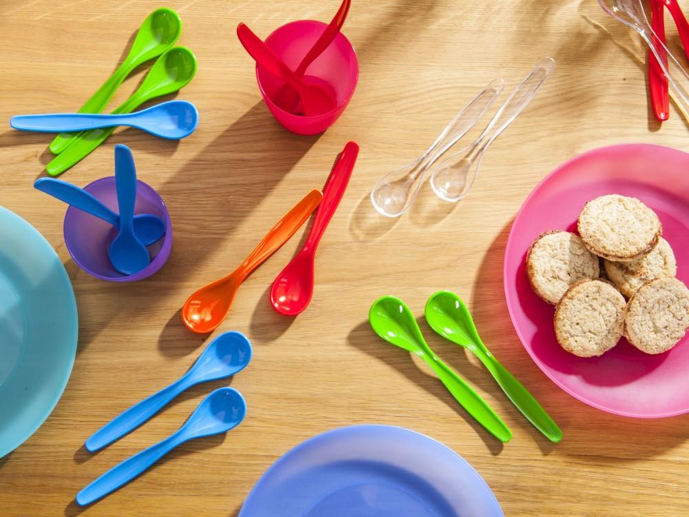 Łyżeczki plastikowe dla dzieci MS Tworzywa dla domu (6 sztuk)
