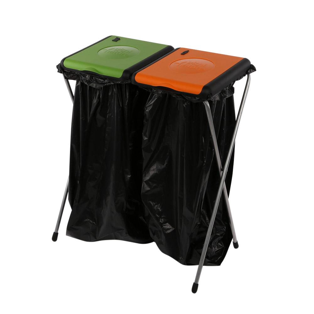 Plastikowy stojak na worki do segregacji śmieci kosz na śmieci 2 częściowy Nature Gimi