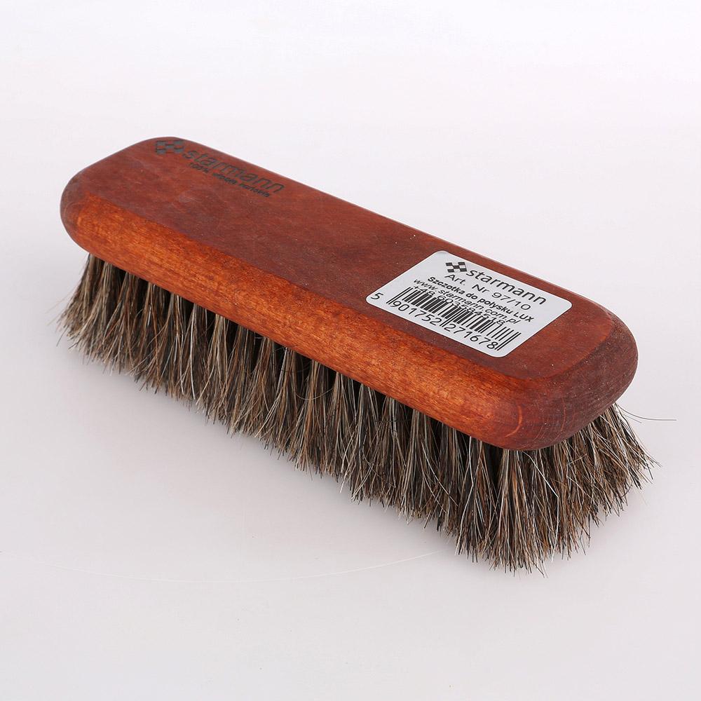 Szczotka do obuwia drewniany włosie końskie Starmann Lux 17 cm