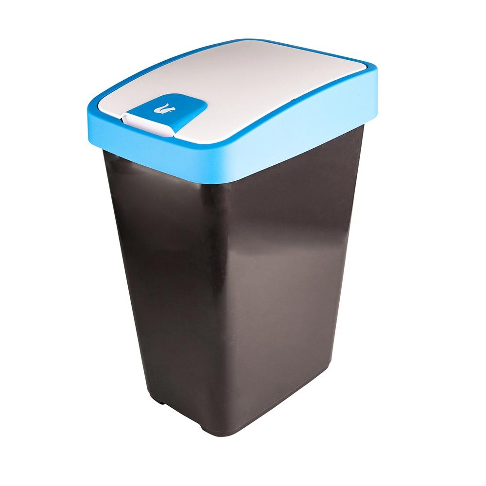 Kosz na śmieci z naciskaną pokrywą Keeeper Niebieski 25 l