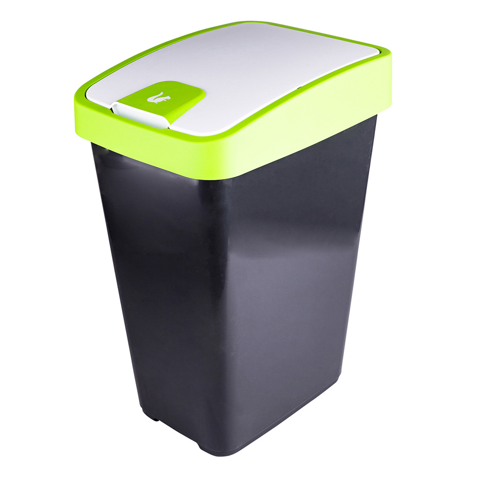 Kosz na śmieci z naciskaną pokrywą Keeeper Seledyn 45 l