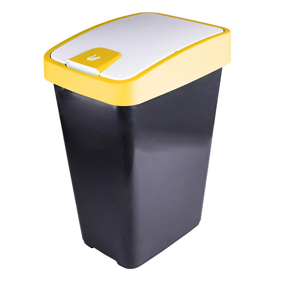 Kosz na śmieci z naciskaną pokrywą Keeeper Żółty 45 l