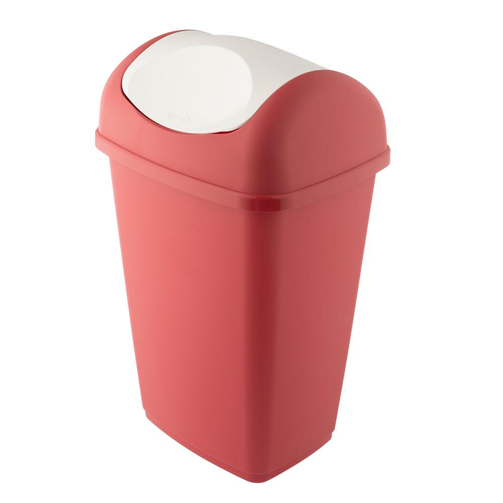 Kosz na śmieci uchylny Bentom Grace 15 l czerwony