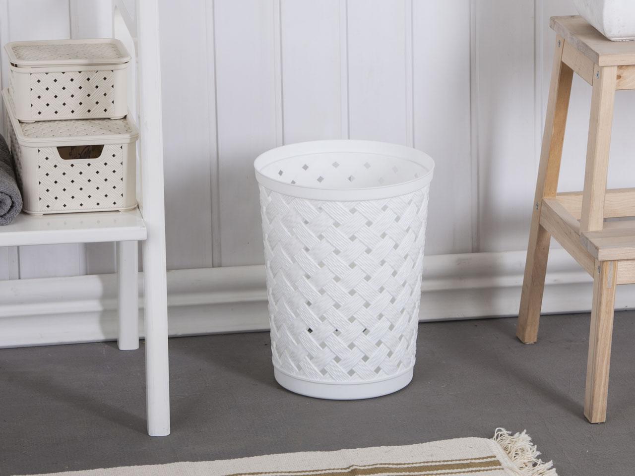 Arianna waste paper basket 12l white