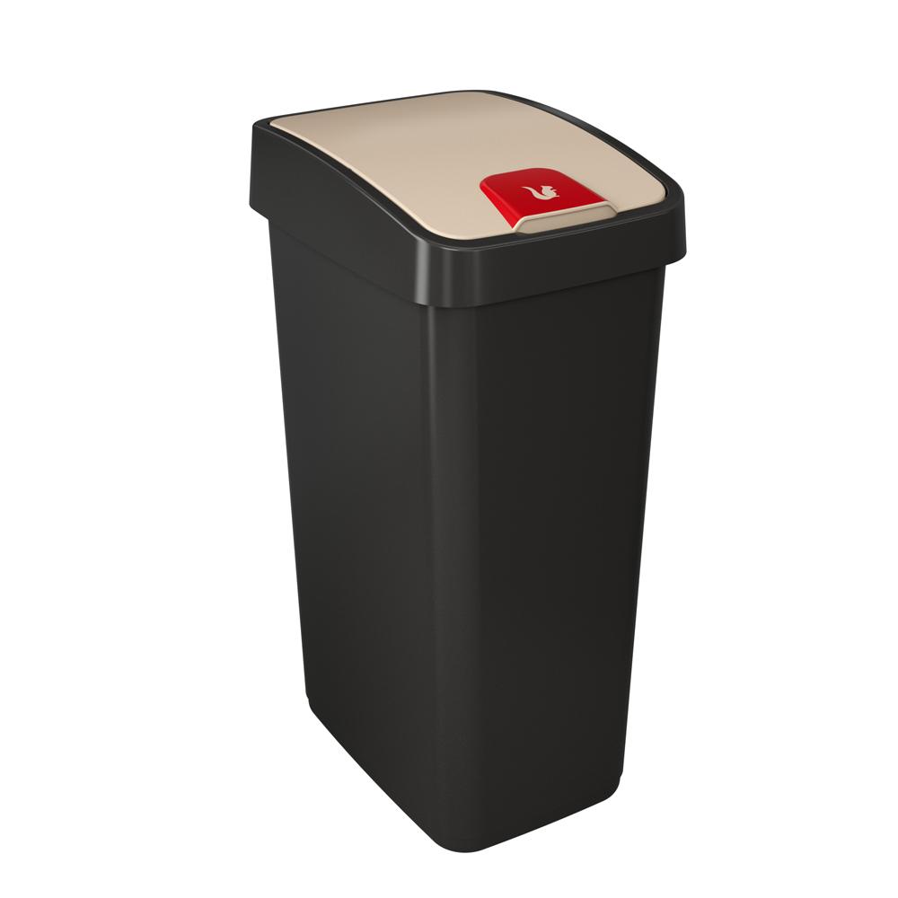 Kosz na śmieci z naciskaną pokrywą 45 l grafitowy