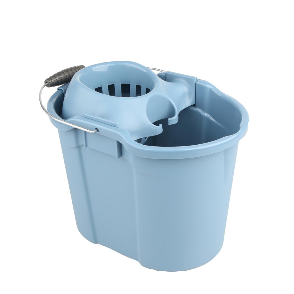 Wiadro do mopa z wyciskaczem Tontarelli Aurora 16 l niebiesko-szare