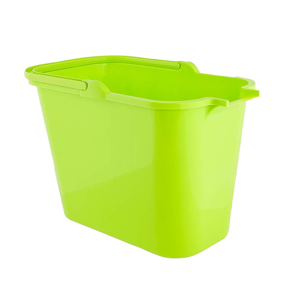 Wiadro do mopa prostokątne plastikowe Bentom 12 l seledyn