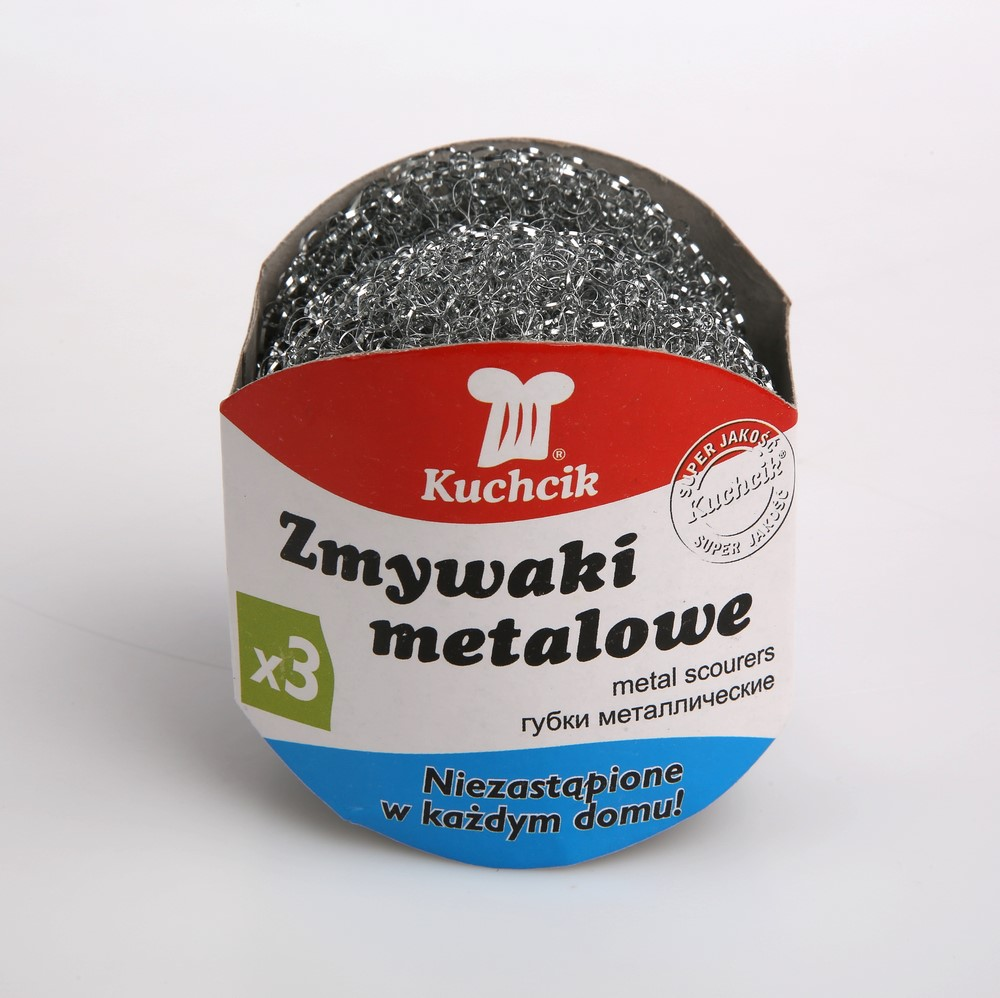Gąbka / zmywak metalowy AKU Kuchcik (3 sztuki)