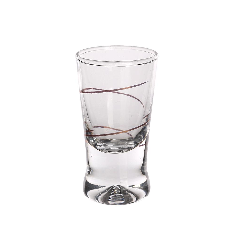 Kieliszki do wódki Glasmark Złota Spirala 25 ml (6 kieliszków)