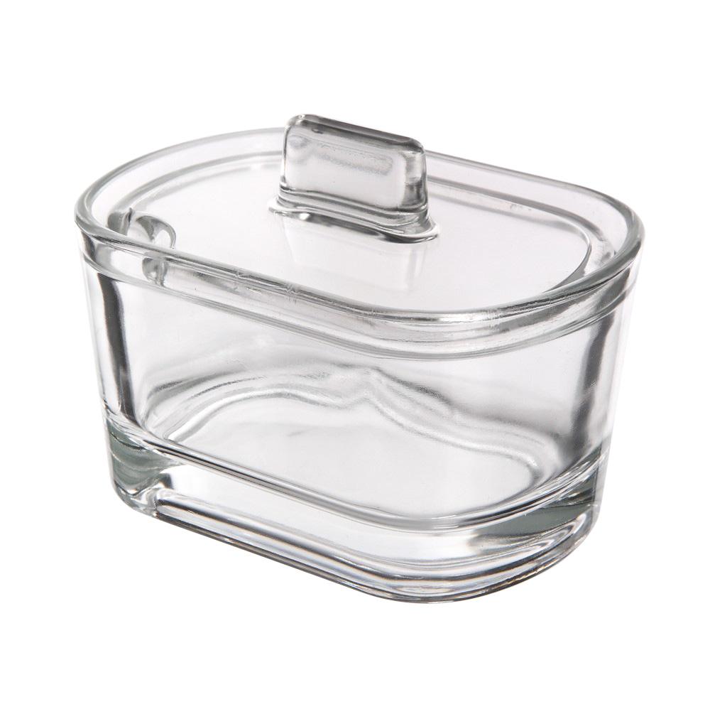 Cukierniczka szklana z pokrywką Huta Jasło 13 cm
