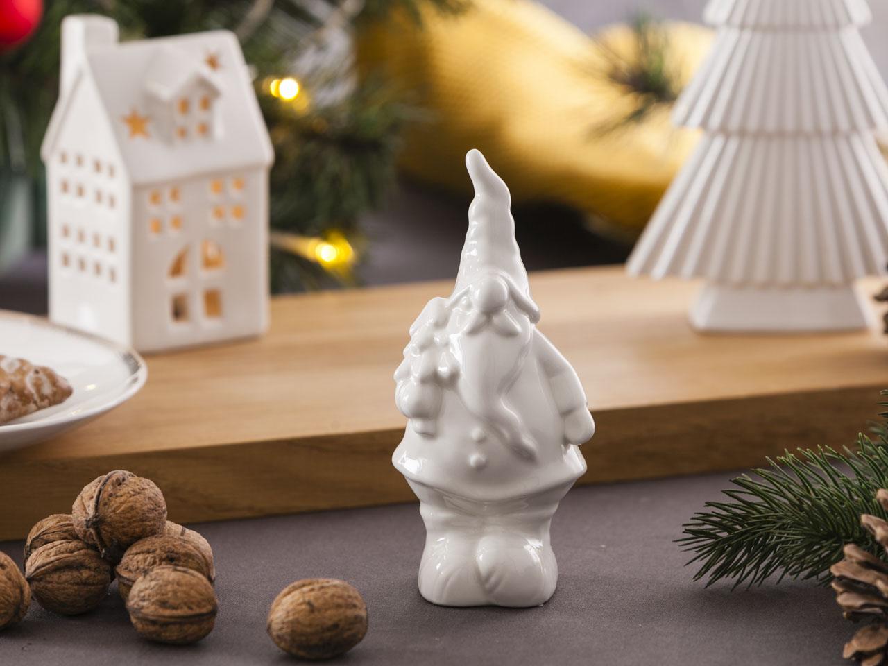 Ozdoba / figurka / dekoracja świąteczna Boże Narodzenie Altom Design Mikołaj z choinką 7x7x15,5 cm