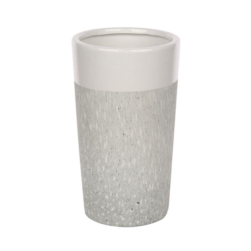 Wazon ozdobny na kwiaty porcelanowy stożek Altom Design dekoracja Granit 20,5 cm