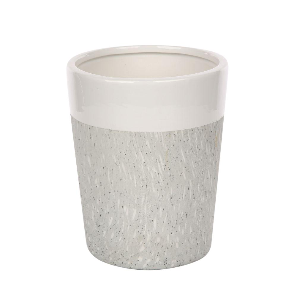 Wazon ozdobny na kwiaty porcelanowy stożek Altom Design dekoracja Granit 15 cm