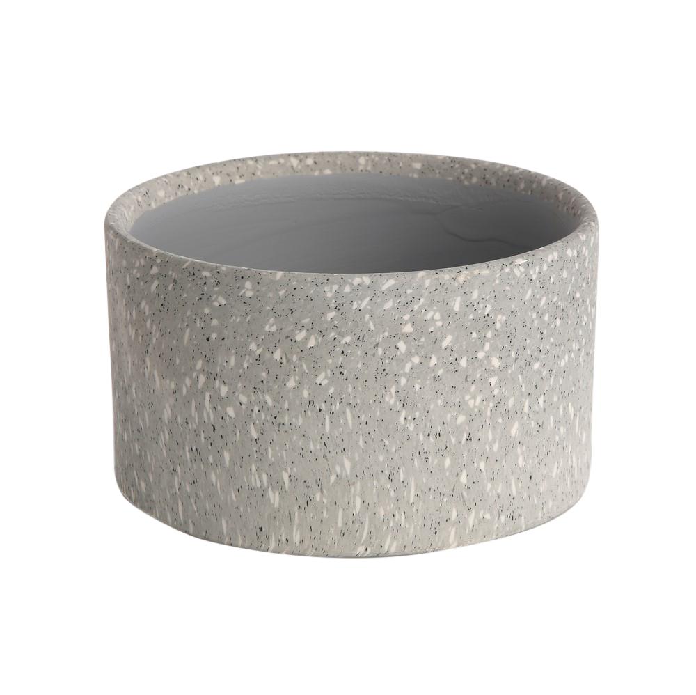 Osłonka dekoracyjna porcelanowa na doniczkę Altom Design dekoracja Granit 8,5 cm