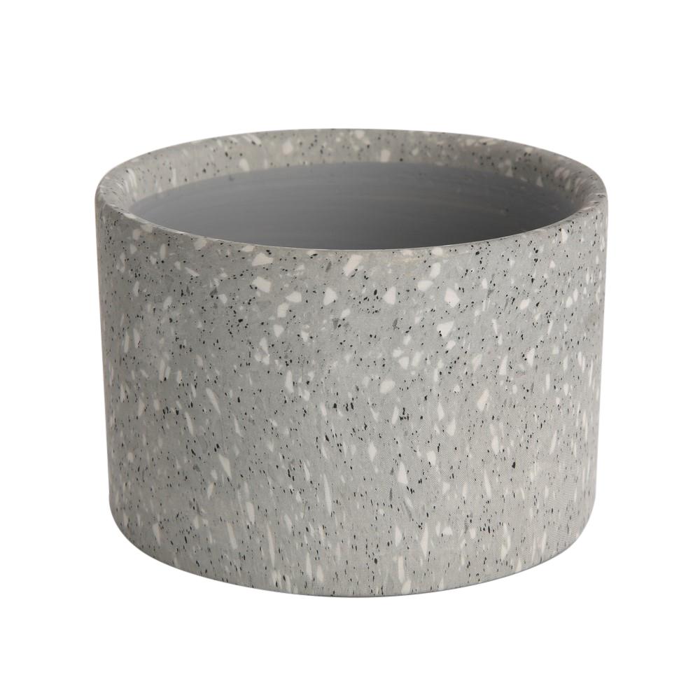 Osłonka dekoracyjna porcelanowa na doniczkę Altom Design dekoracja Granit 6,5 cm