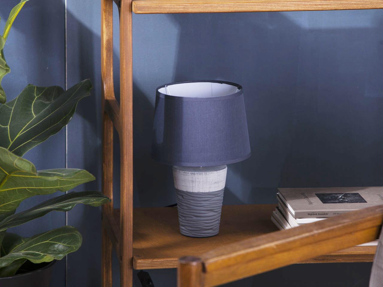 Lampa stożkowa z podstawką ceramiczną Altom Design 20x30 cm