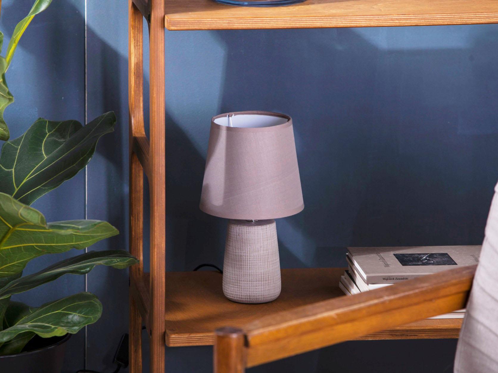 Lampa stołowa ceramiczna Altom Design Relief 17x30,5 cm