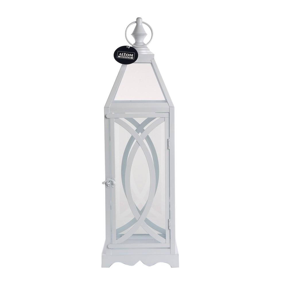 Latarenka Altom Design metalowa biała 19x19x61,5