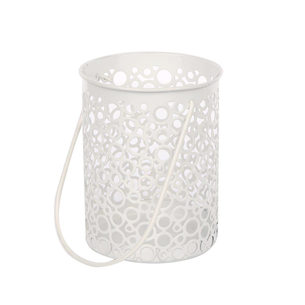 Latarenka / latarnia/ lampion ozdobny okrągły Altom Design metalowy
