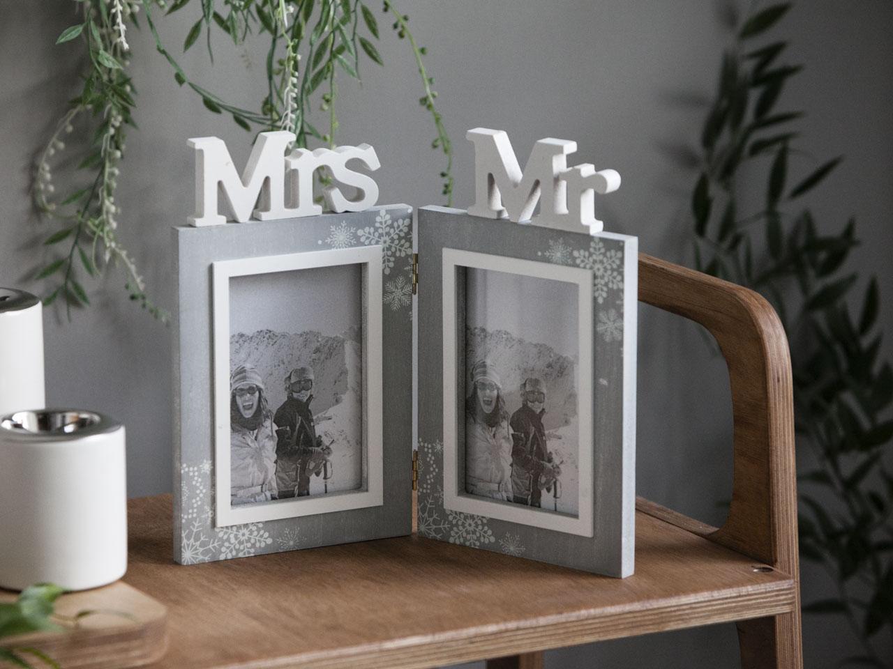 Ramka do zdjęć podwójna stojąca Altom Design Home 26,5x23x1,5 cm