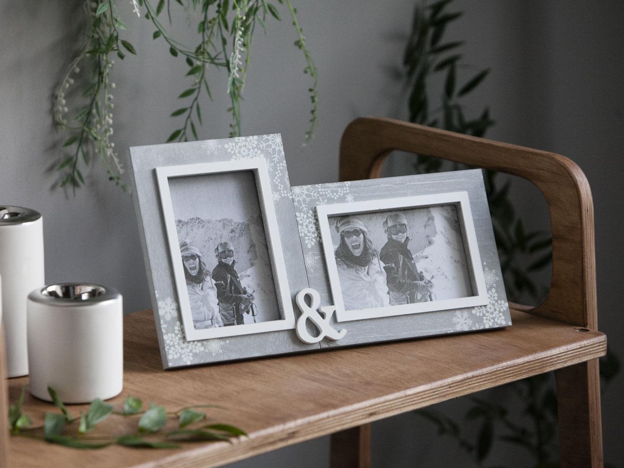 Ramka do zdjęć podwójna stojąca Altom Design Home 31,5x18x2 cm