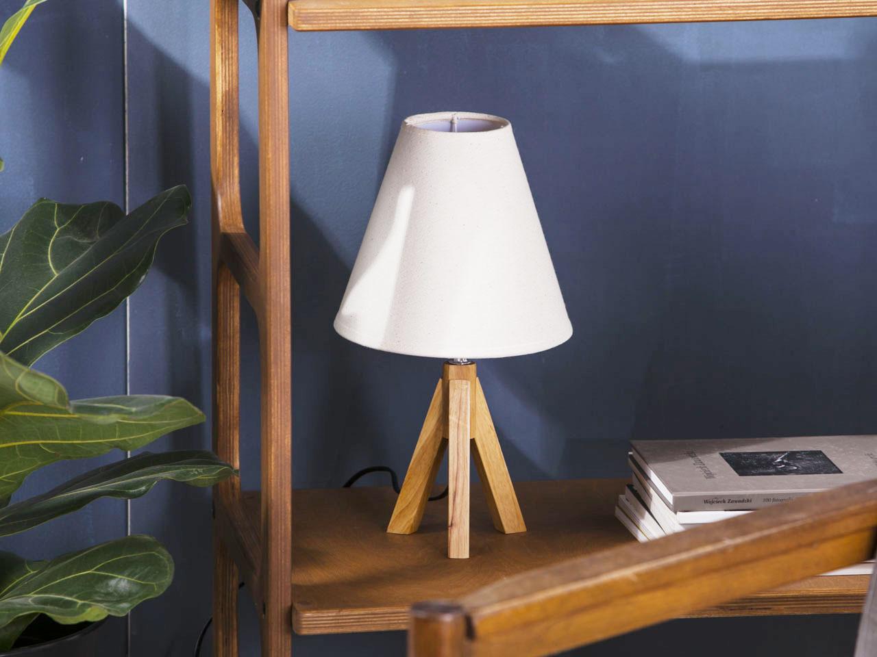 Lampa z podstawką drewnianą Altom Design Scandic 20x35 cm