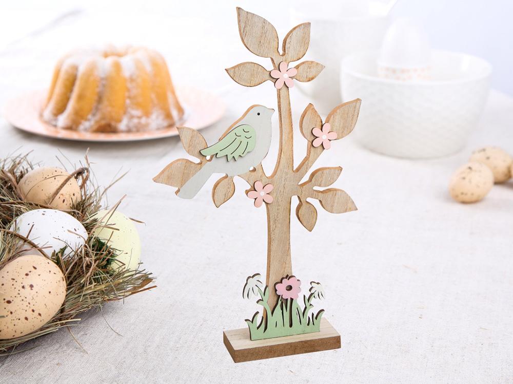 Figurka / ozdoba drewniana Altom Design drzewko 19x5x31 cm