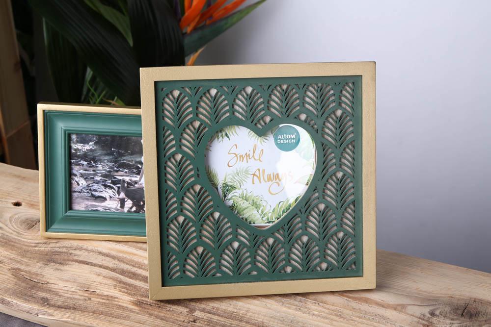 Ramka na zdjęcie drewniana kwadratowa z sercem Altom Design Urban 21,5 cm