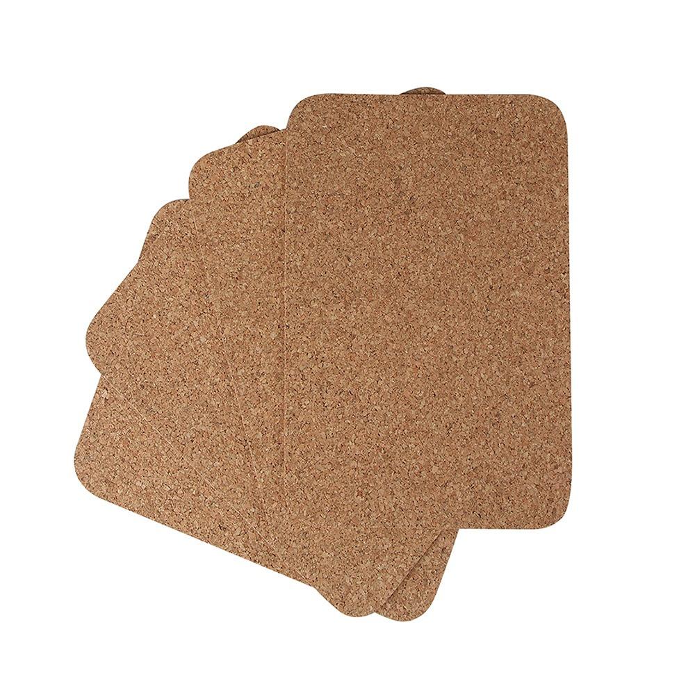 Komplet podkładek korkowych prostokątnych Korkowo korek naturalny  22x30 cm (4 sztuki)