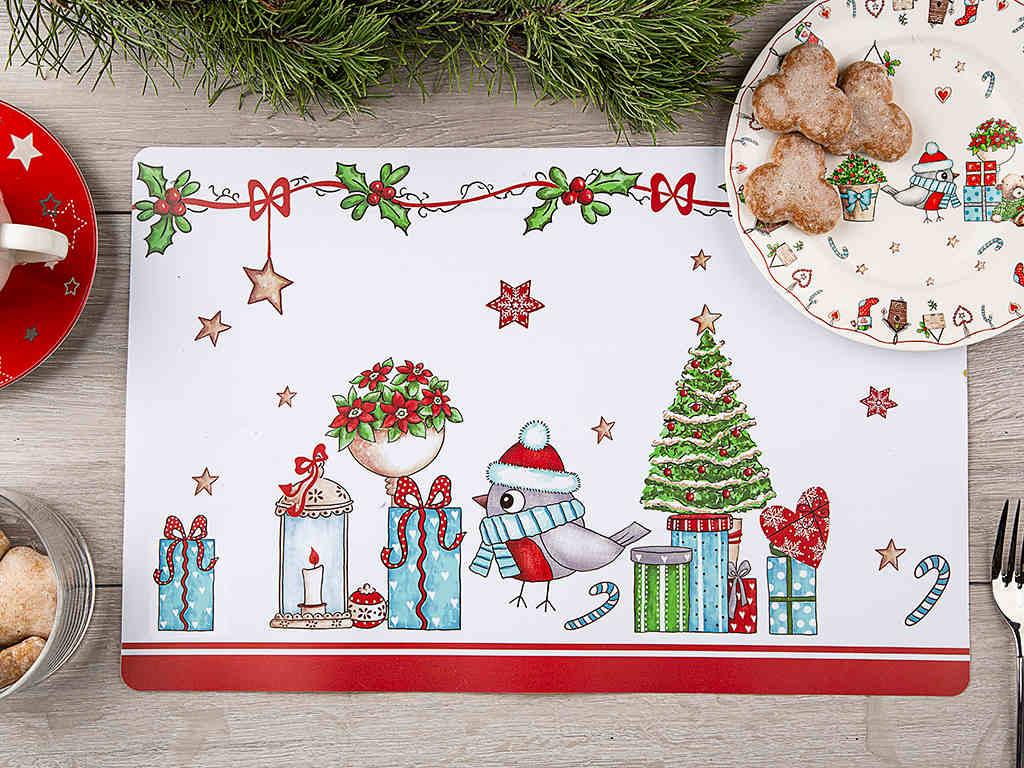 Podkładka / mata na stół świąteczna Boże Narodzenie Altom Design Holly prostokątna 28 x 43 cm