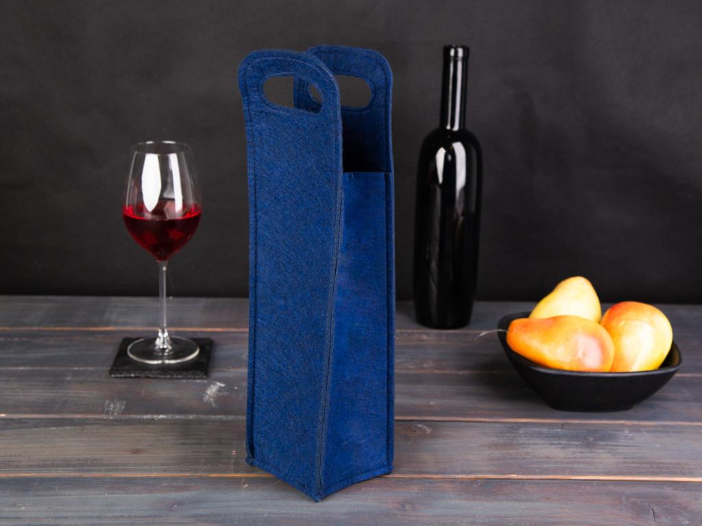 Torebka filcowa na butelkę Altom Design Mikołaj 38x10 cm