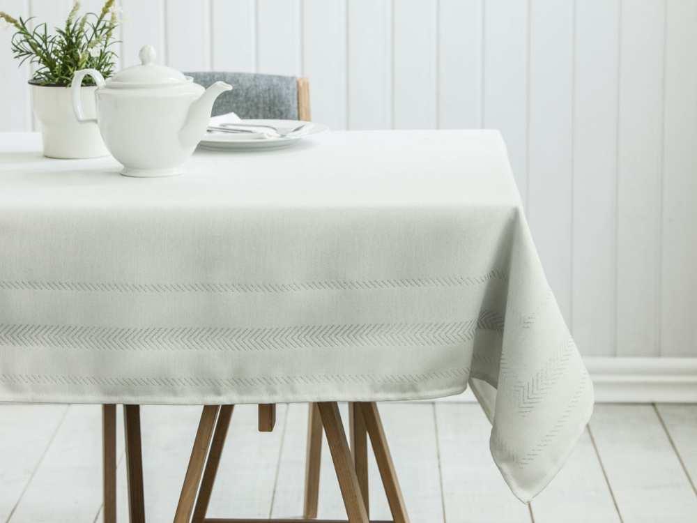 Obrus na stół Altom Design dek. Proste Paski Srebrny 150x240 cm