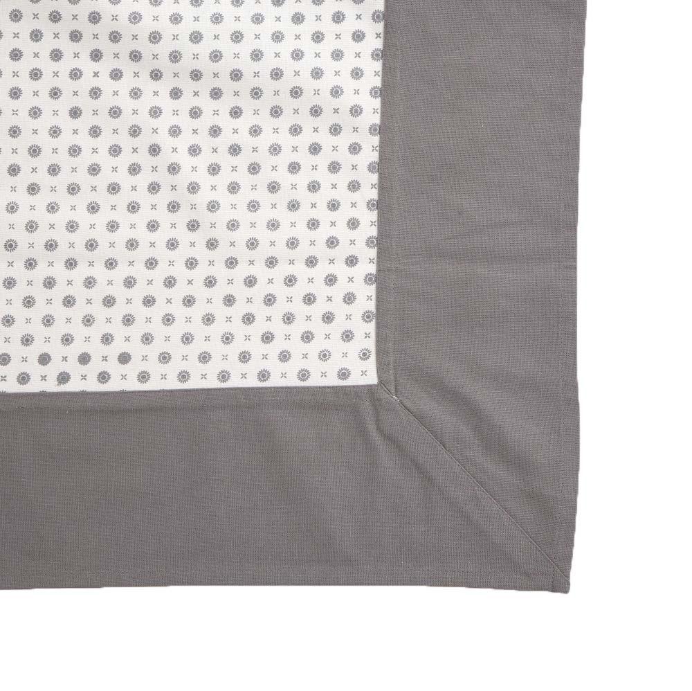 Obrus na stół Altom Design Biały z dekoracją szara rozeta 110x160 cm