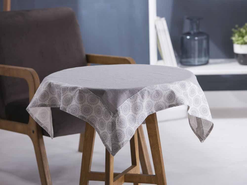 Obrus / Serweta na stół Altom Design Szary / Obszycie Szara Rozeta 80x80 cm
