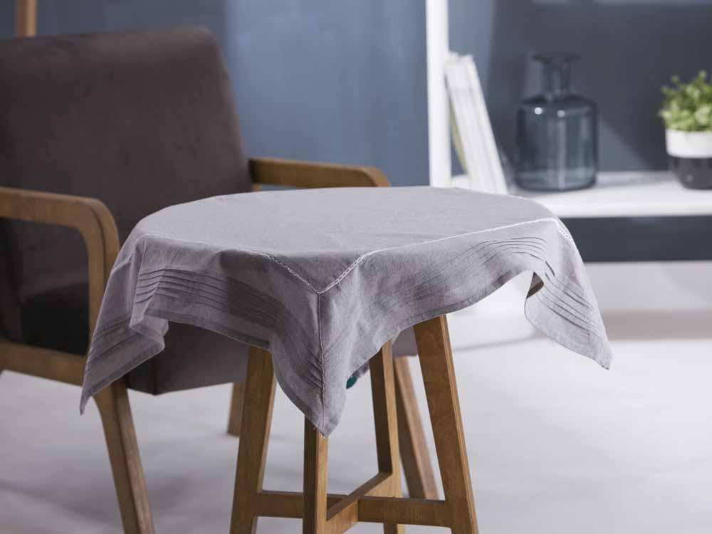 Obrus / Serweta na stół Altom Design Popiel / Wykończenie Plisowane 80x80 cm