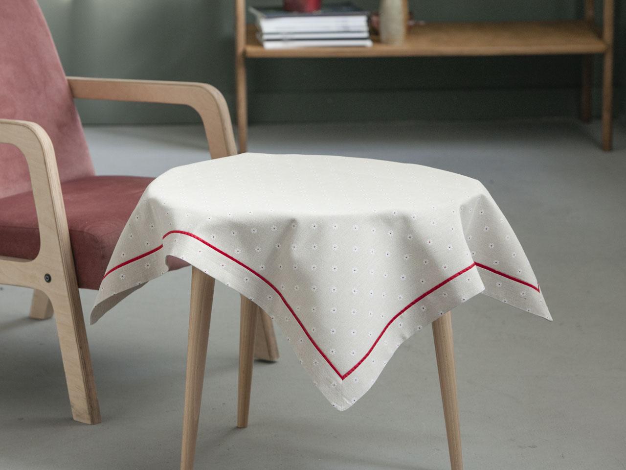 Obrus / Serweta na stół Altom Design Czerwony Pasek 80x80 cm