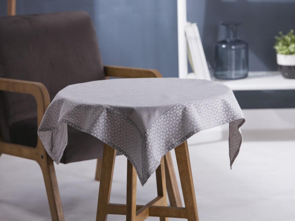 Obrus / Serweta na stół Altom Design Popiel / Obszycie Dmuchawce 80x80 cm