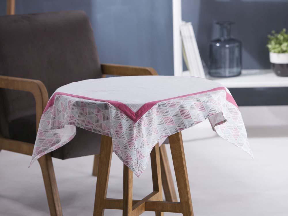 Obrus / Serweta na stół Altom Design Biały / Obszycie Trójkąty 80x80 cm