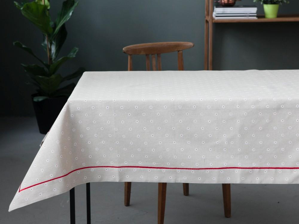 Obrus na stół Altom Design Czerwony Pasek 130x160 cm