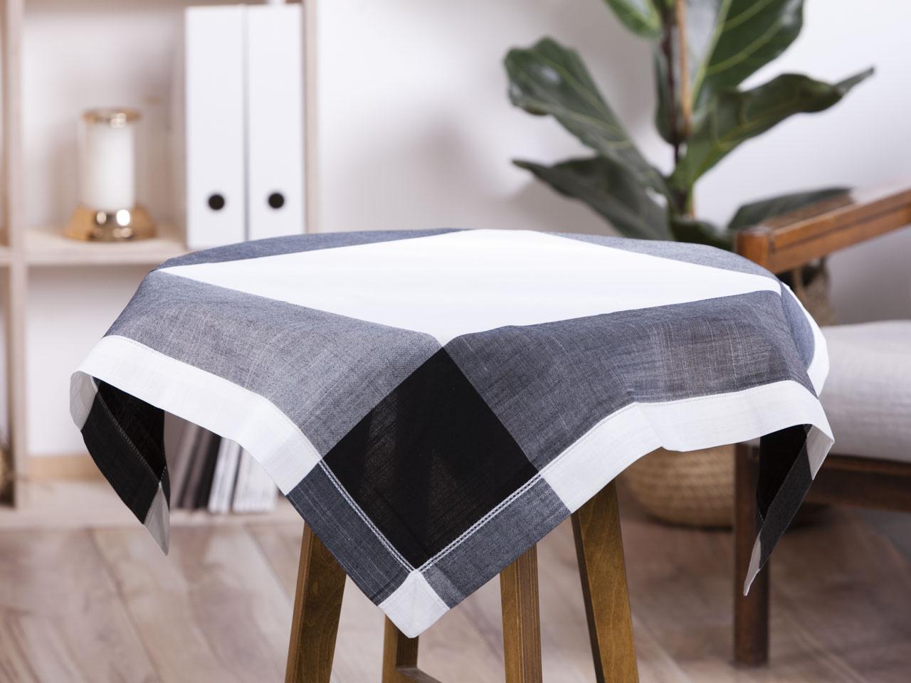 Obrus / serweta na stół Altom Design Biały Ażurowa łąka 80x80 cm