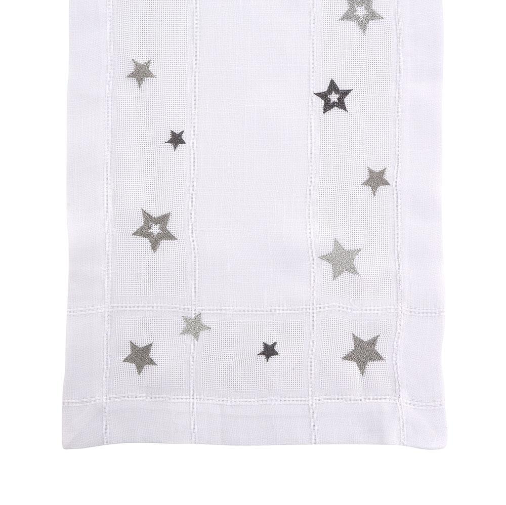 Bieżnik na stół Altom Design dek. Biały Srebrne Gwiazdki 40x140 cm